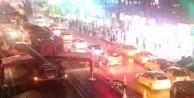 İstanbul'da tüm şeritler trafiğe kapatıldı