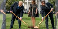 Trump ve Macron show yaptı