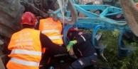 Tunceli'de traktör devrildi! Altında kalan sürücüyü AFAD kurtardı