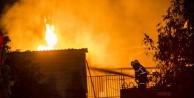 Tutkal fabrikasında yangın çıktı