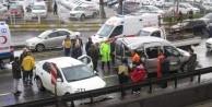 Üsküdar'da zincirleme kaza: 2 yaralı