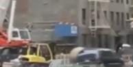 Vinç operatörü arabayı havaya uçurdu / VİDEO