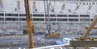 Vodafone Arena inşaatında çökme
