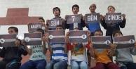 Yetimler Halep'teki saldırıları protesto etti