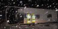 Yolcu otobüsleri devrildi: 34 yaralı