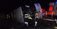 Yozgat'ta otobüs devrildi: 3 ölü, 30 yaralı