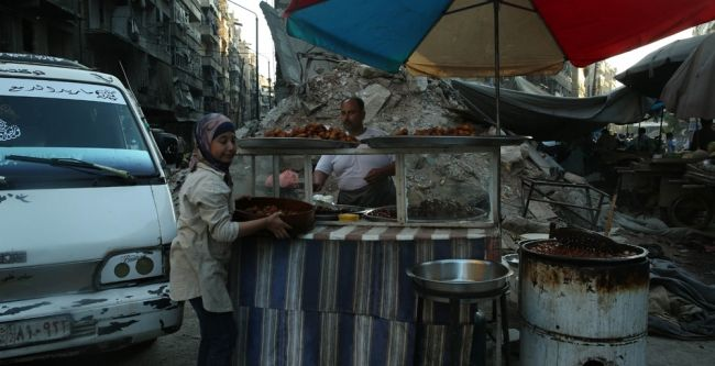 Halep'te Ramazan sevinci