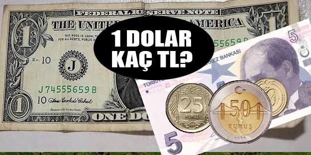 1 dolar ne kadar 1 dolar kaç TL