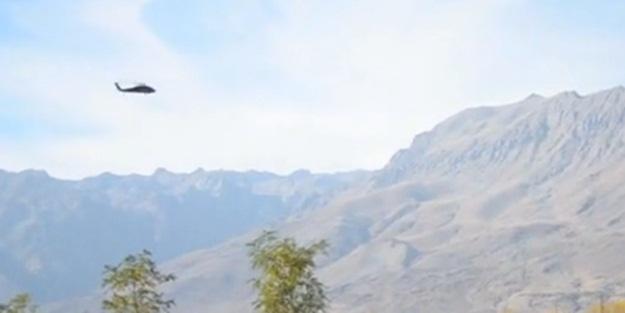 1 tona yakın bomba helikopterlerle infilak ettirildi