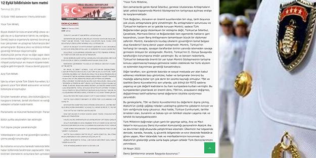 Hangi ifadeler kopyalandı? İşte 12 Eylül, 15 Temmuz ve 104 amiral bildirisinin ortak noktaları