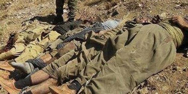12 teröristin cesedi ele geçirildi!