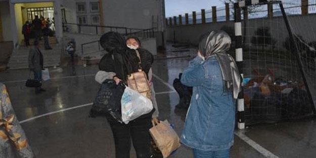 14 günlük karantina sonrası öğrenciler ailelerine kavuştu