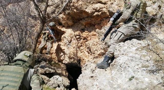 14 terörist mağarası ve barınak imha edildi