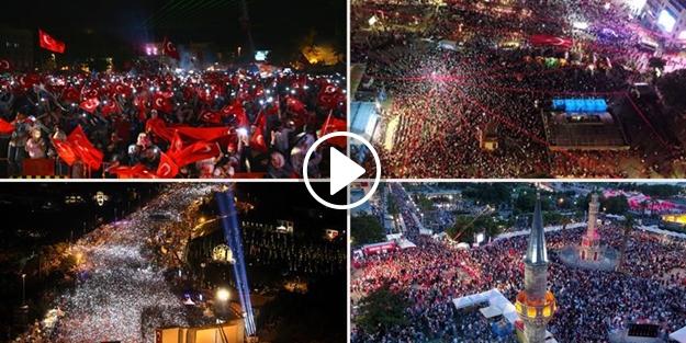 15 Temmuz'un yıl dönümünde Türkiye meydanlardaydı