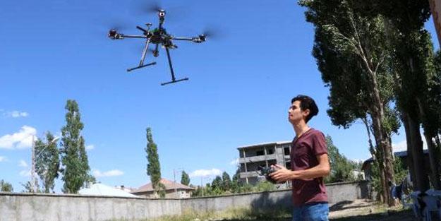 19 yaşındaki Yüksekovalı genç drone tasarladı
