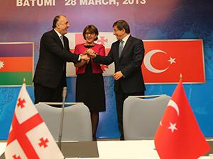 Türkiye-Gürcistan Azerbaycan arasında mutabakat zaptı