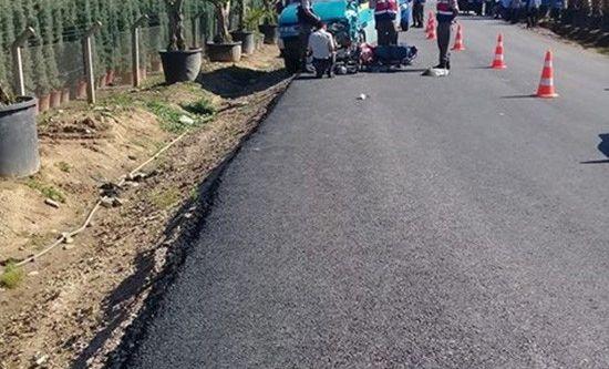 İzmir'de araç sollama kazası: 1 ölü, 1 ağır yaralı