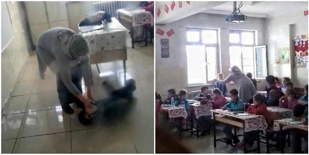 2. sınıf öğrencilerini böyle dövdü