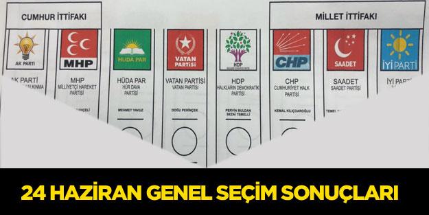 24 Haziran genel seçim sonuçları, hangi parti ne kadar oy aldı?