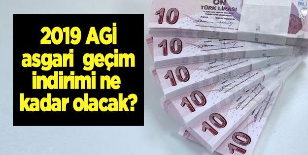 2019 asgari geçim indirimi-AGİ ne kadar olacak?