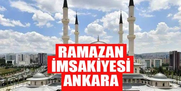 2019 Ramazan imsakiyesi Ankara
