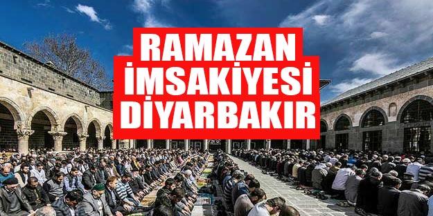 2019 Ramazan imsakiyesi Diyarbakır