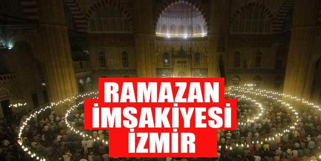 2019 Ramazan imsakiyesi İzmir | İzmir iftar vakti 2019