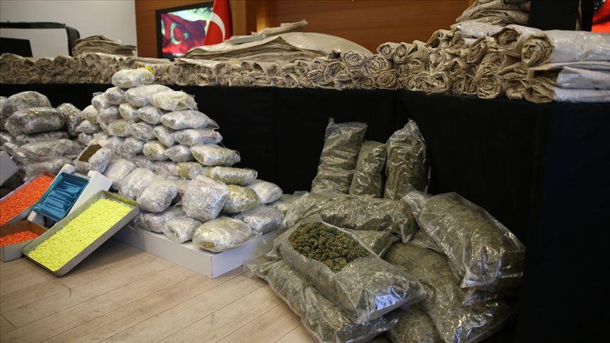 2019'da 148 bin 828 uyuşturucu operasyonu düzenlendi
