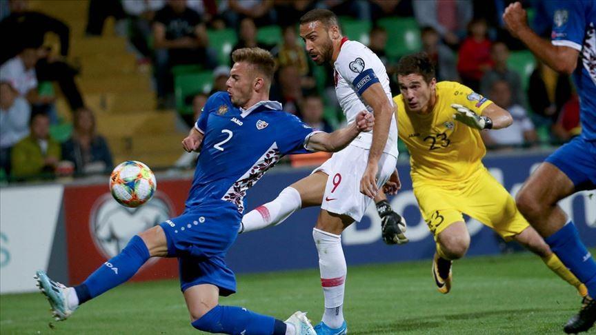 2020 Avrupa Futbol Şampiyonasında Milliler Moldova'da farklı kazandı