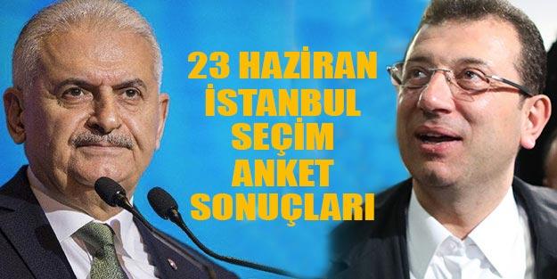 23 Haziran 2019 seçim anketi İstanbul İBB