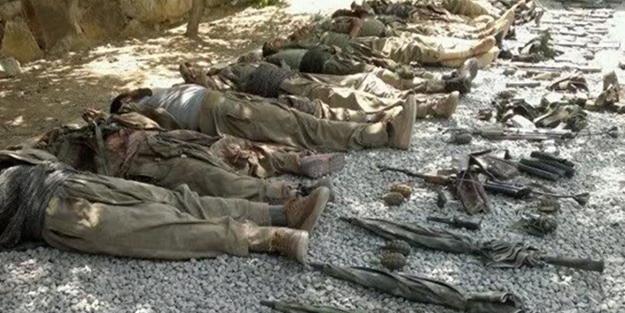 26 barınak imha edildi, 9 terörist öldürüldü!