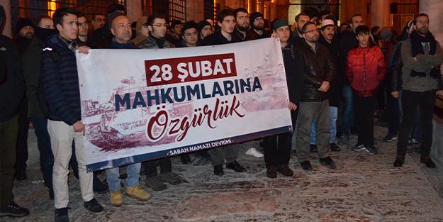 28 Şubat mağdurları için sabah namazında buluştular