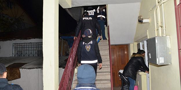 282 polis katıldı! Eş zamanlı operasyonlarda 33 kişi yakalandı
