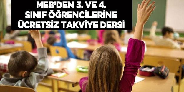 3 ve 4 sınıf öğrencilerine ücretsiz türkçe ve matematik dersi