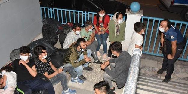 39 sığınmacıyı Yunanistan diye Aydın'a getirdiler