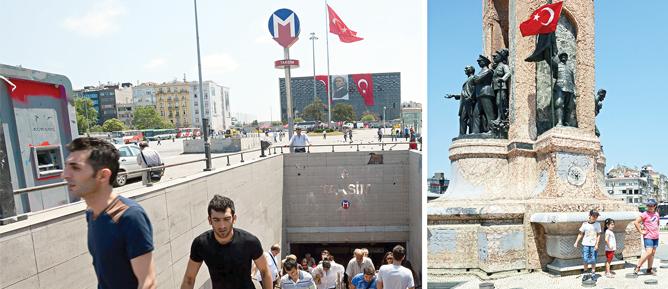 Taksim'de hayat normale dönüyor