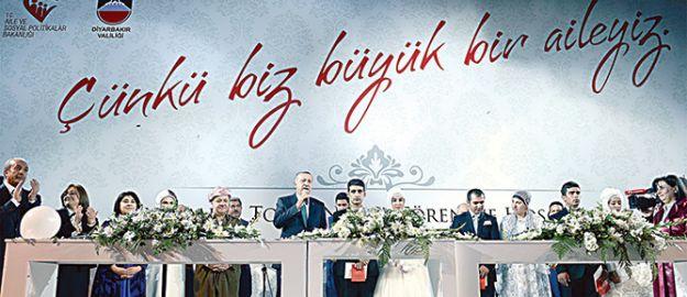400 çiftin nikah şahitliğini Erdoğan ve Barzani yaptı