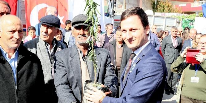 Çiftçiye 15 bin badem fidanı dağıtıldı