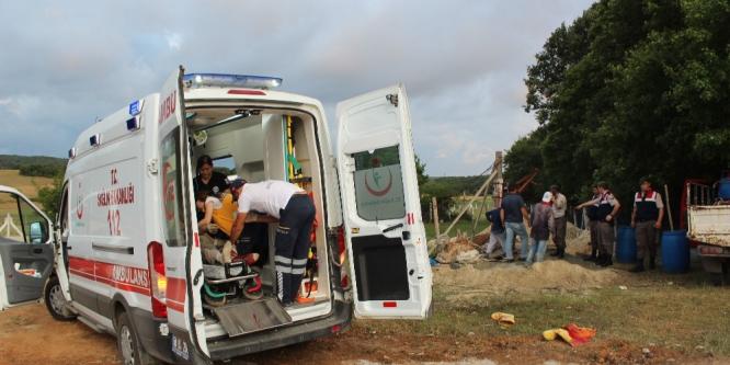 Kuyuya düşen işçi ağır yaralandı