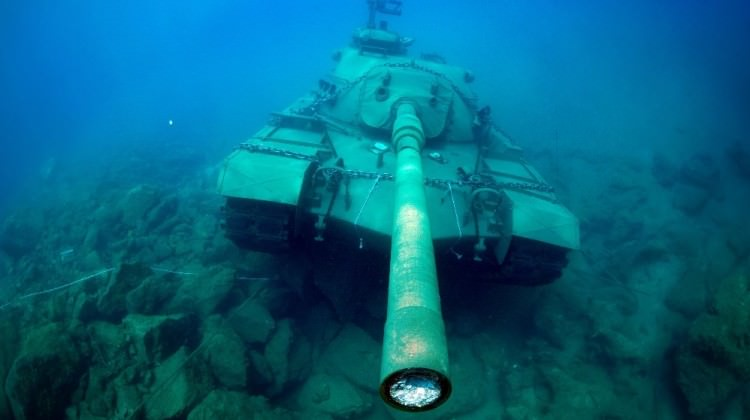 45 tonluk tank, dalış turizminin hizmetinde