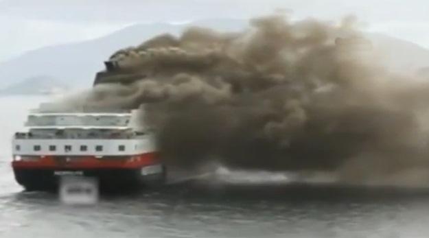 480 yolcu taşıyan feribotta yangın!