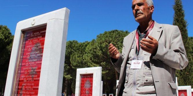 Şehit Fethi Sekin'in babası Çanakkale şehitliklerini gezdi
