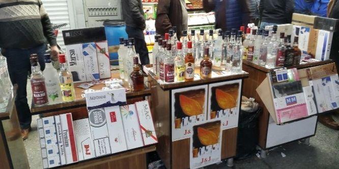 Bin 290 şişe sahte alkol ele geçirildi