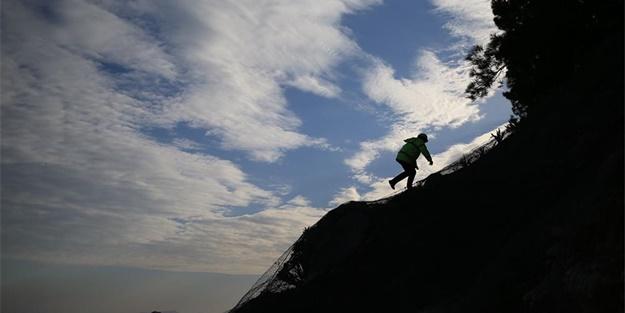 50 metreyi 45 saniyede tırmanıyor!