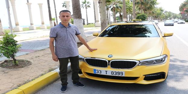 500 bin liralık lüks otomobili taksi yaptı