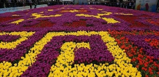 545 bin laleyle dünyanın en büyük halı motifi işlendi