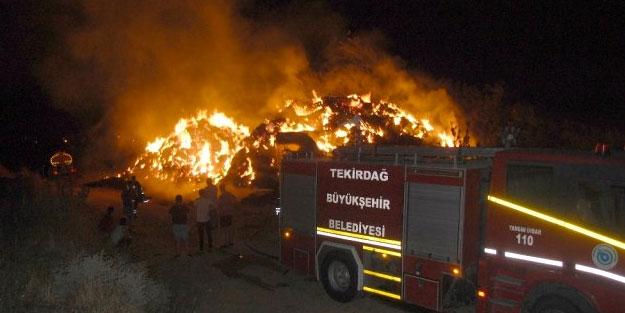 6 bin balya saman alev alev yandı! Kundaklandığı iddia edildi