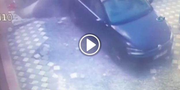 6 otomobili yutan göçük kamerada