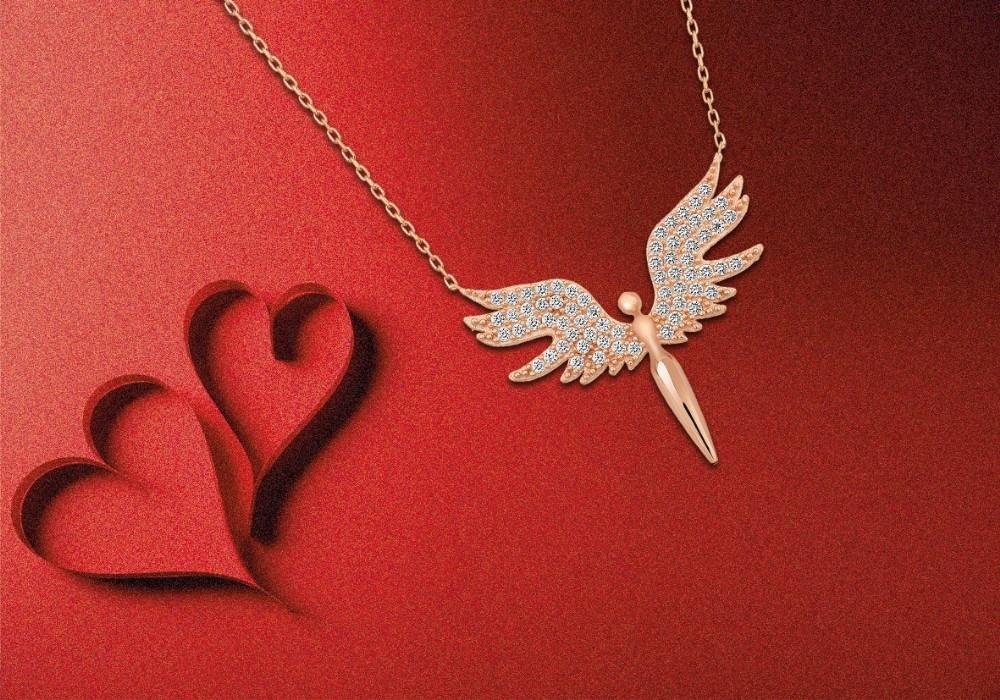 67 Burda AVM'den Sevgililer Günü'nde Melek Kolye hediye