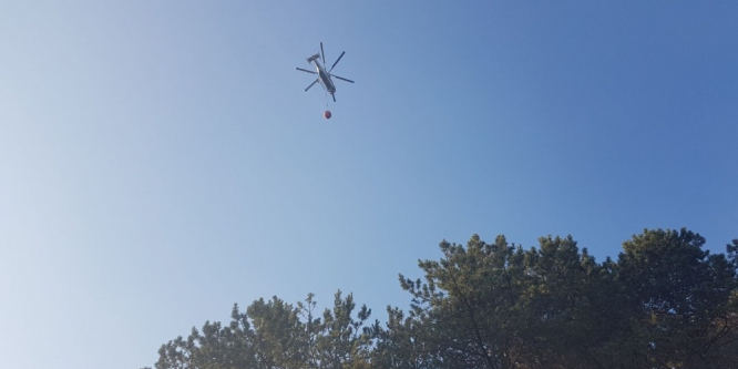 Bursa'da 4 helikopterle müdahale edilen orman yangını kontrol altına alındı